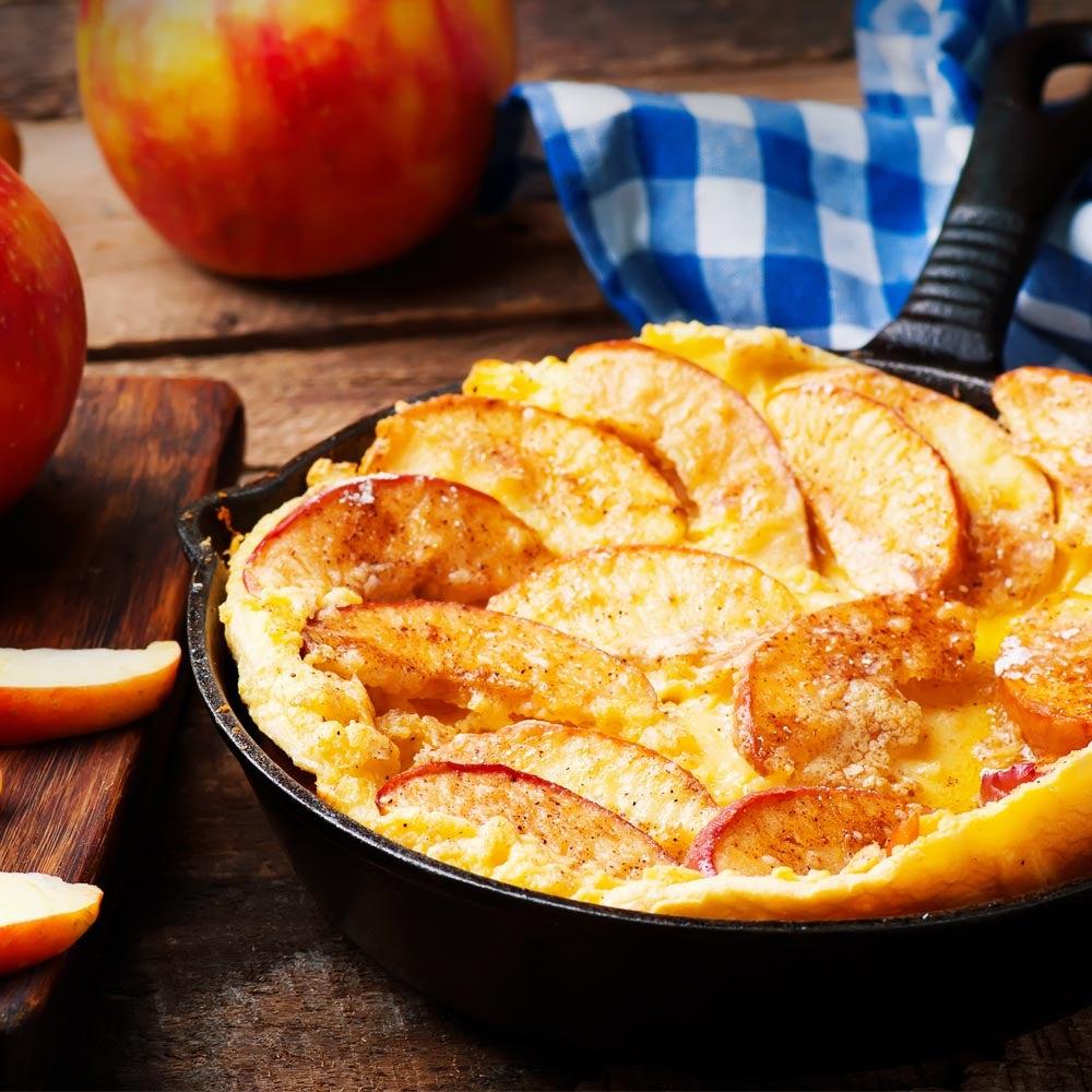 Crêpes pomme-cheddar