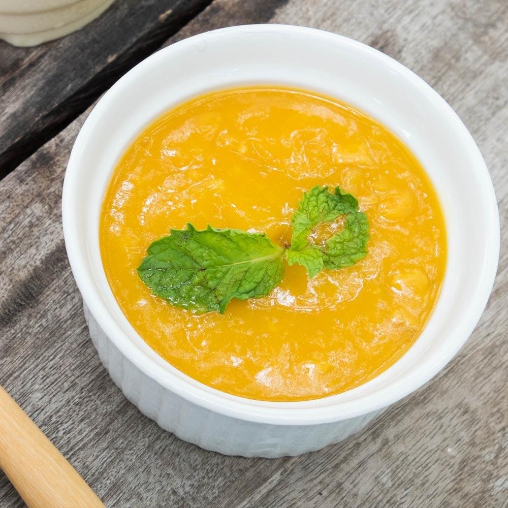 Crème pâtissée à la mangue cuite au four