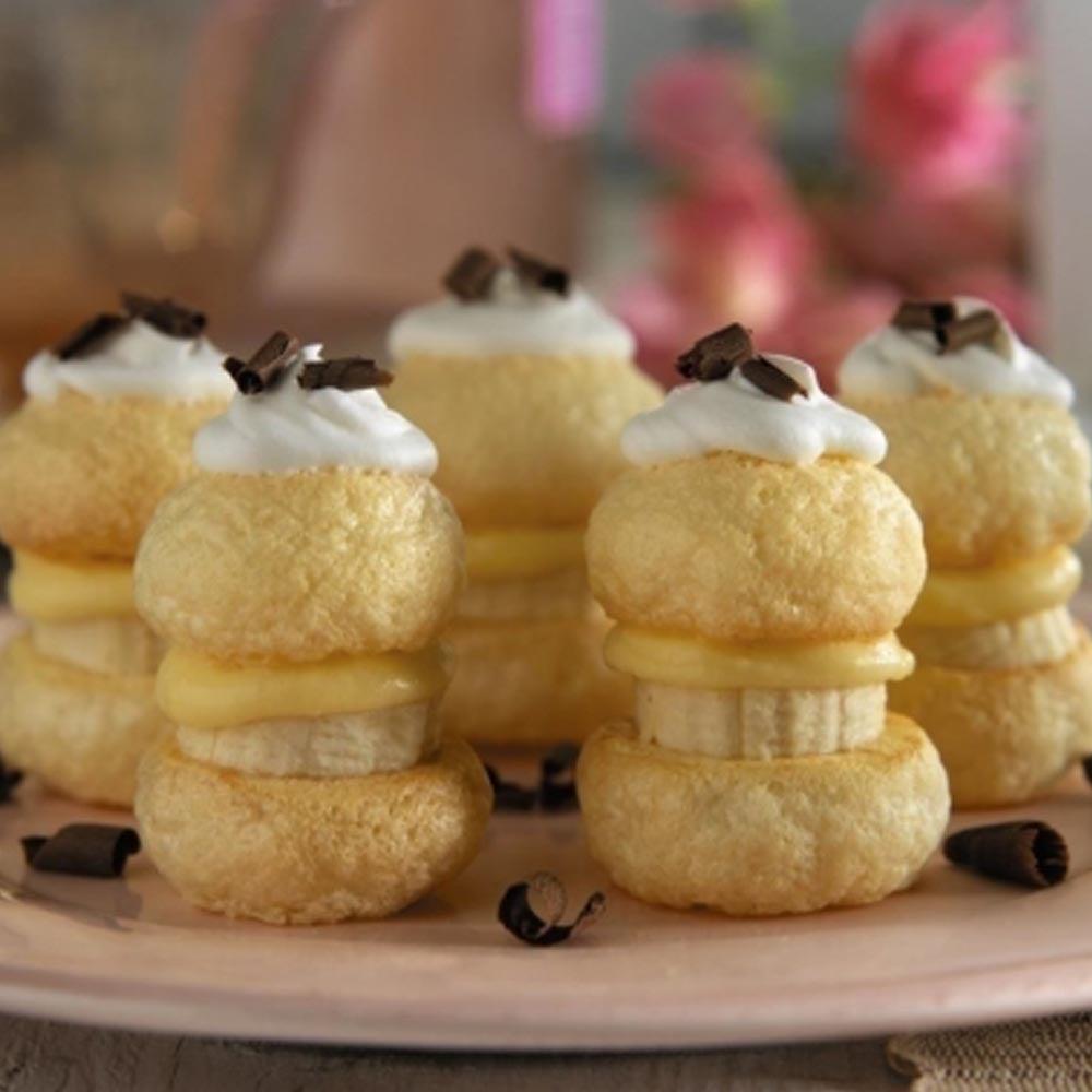 Bouchées d'ange à la crème de banane