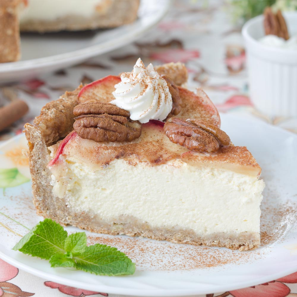 Caramel Pomme Pécan Cheesecake