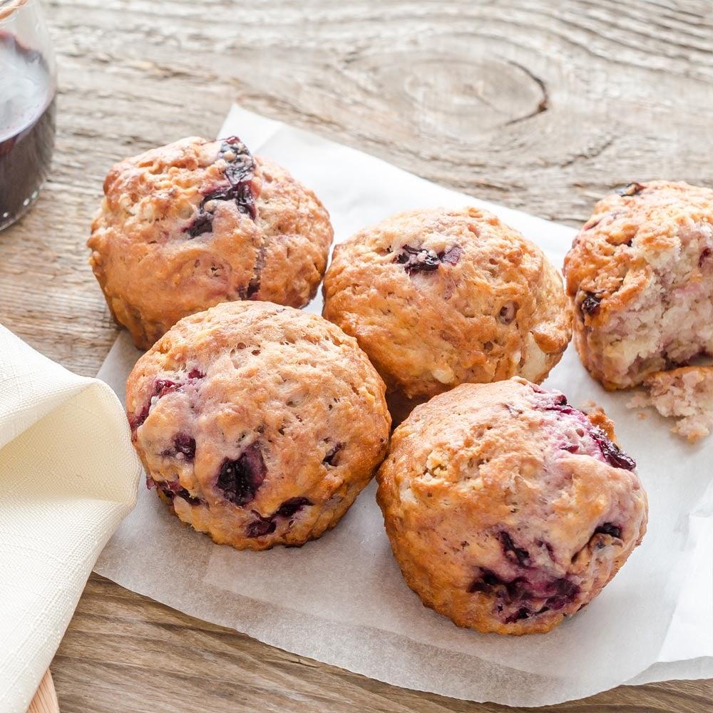 Muffins cerises joyeux