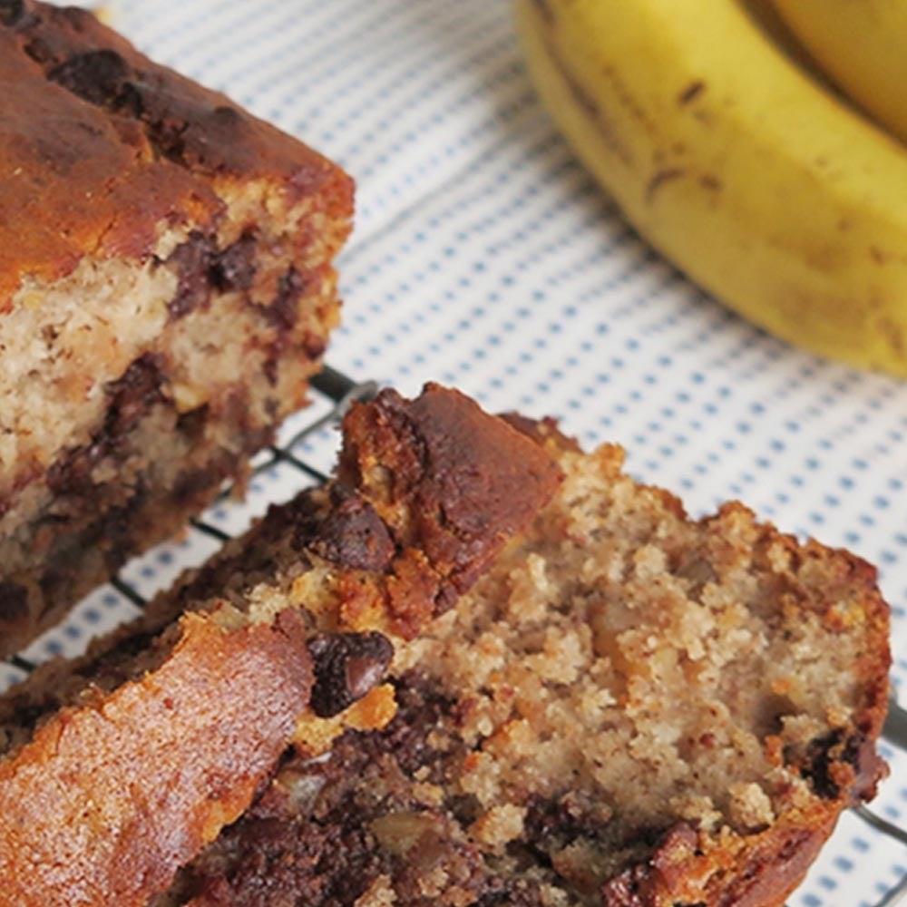 Pain aux bananes et aux pépites de chocolat
