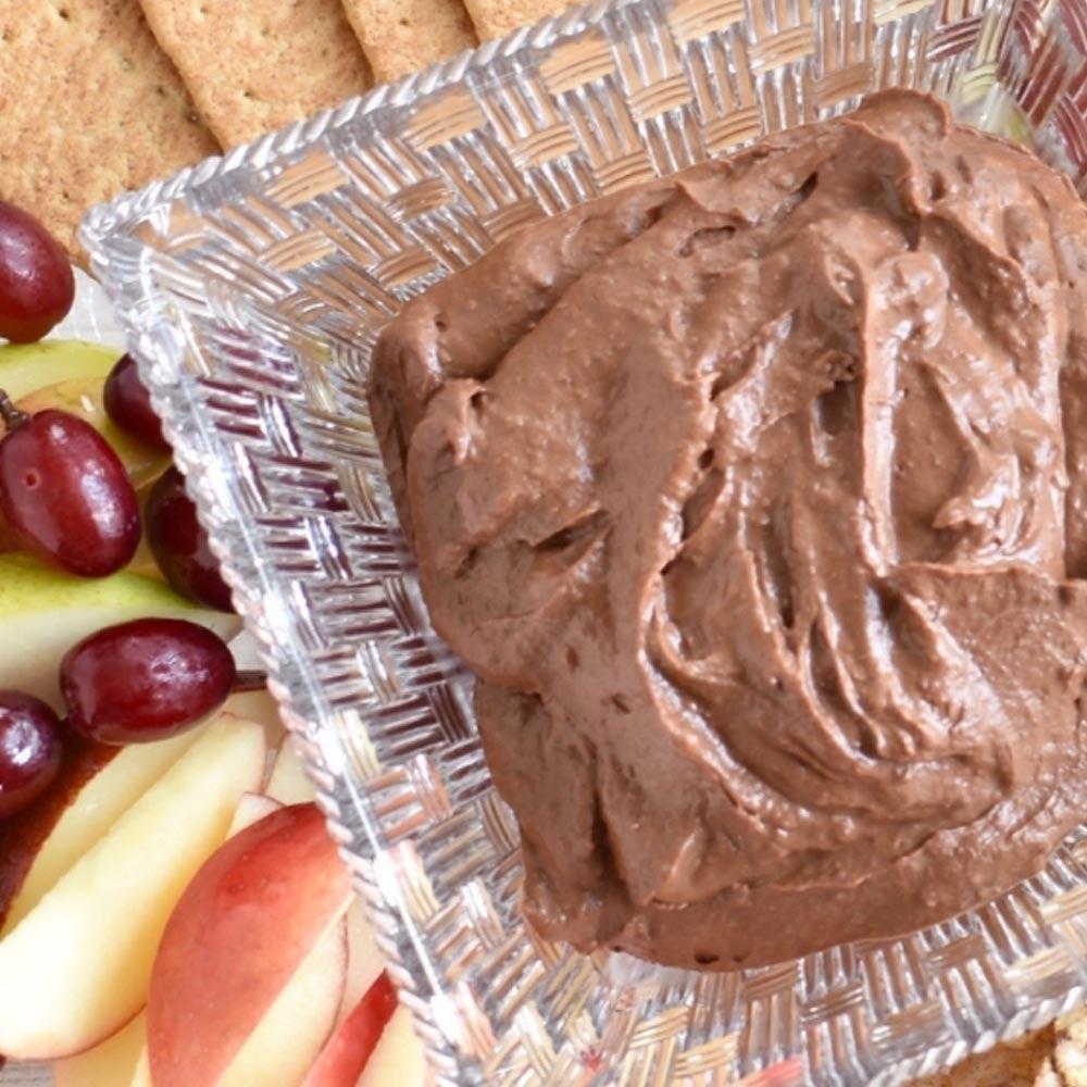 Houmous de dessert aux arachides au chocolat