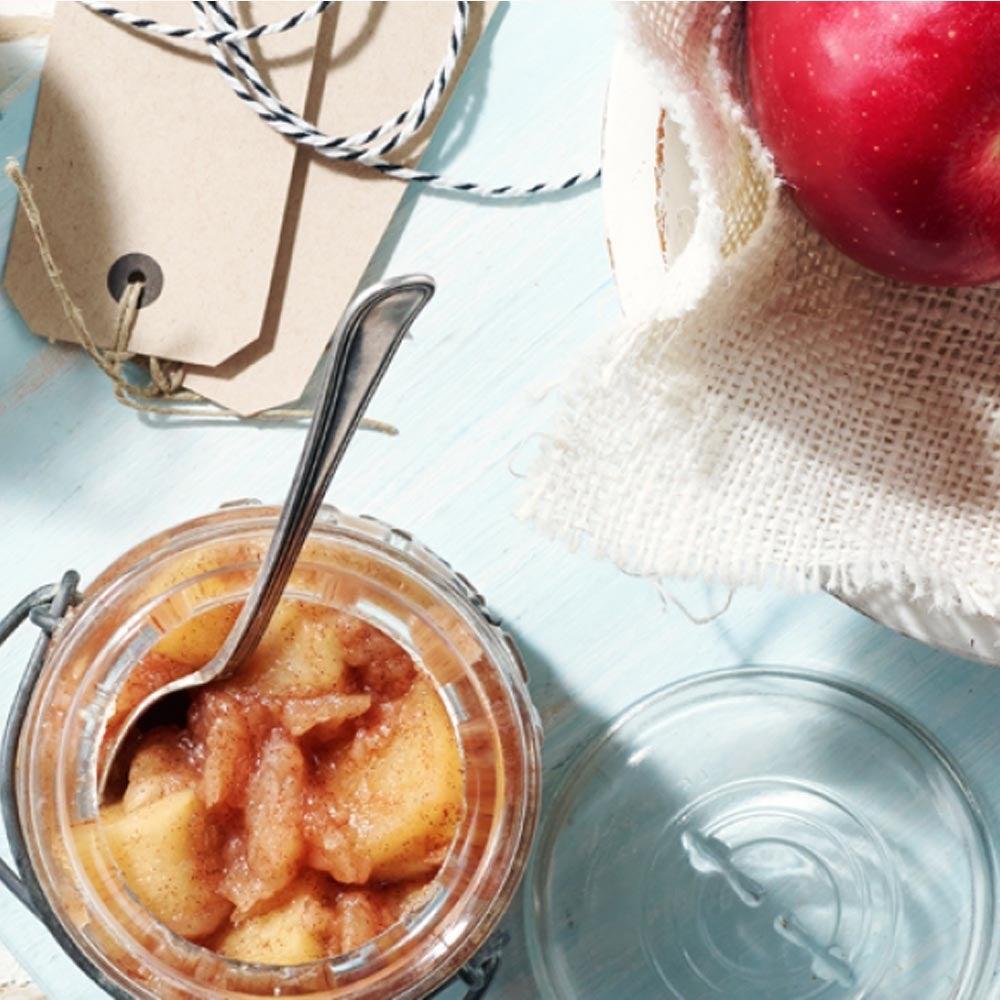 Compote de pommes trapue