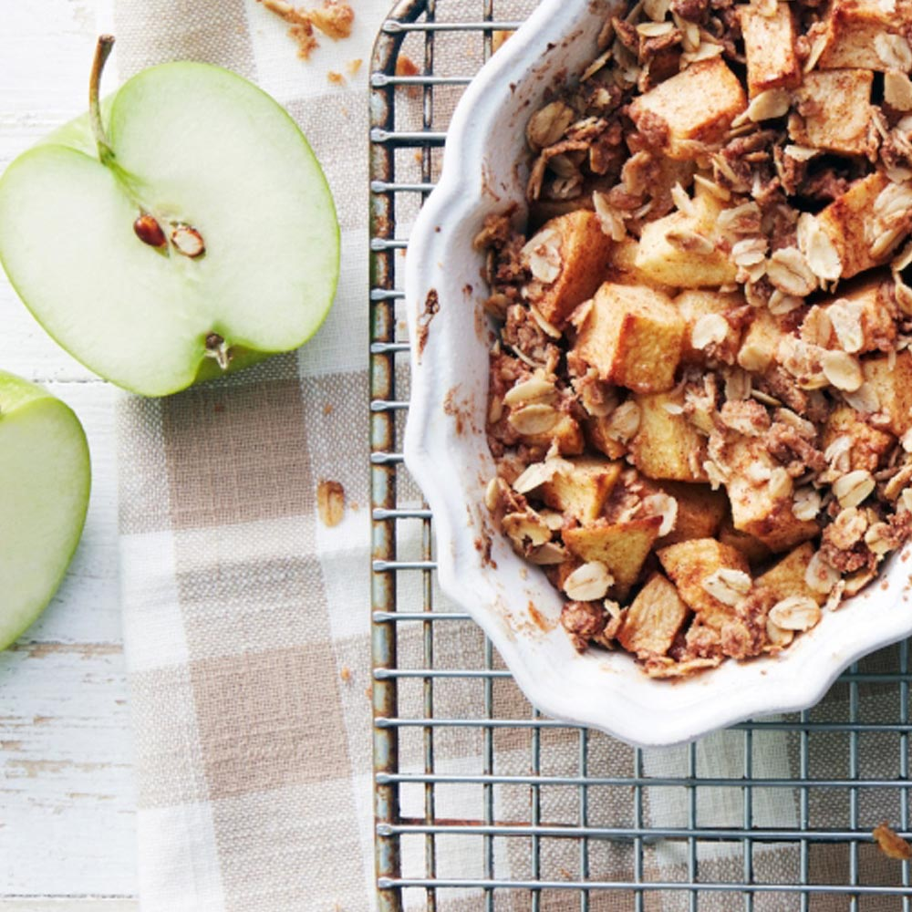 Croustillant de pomme à la cannelle