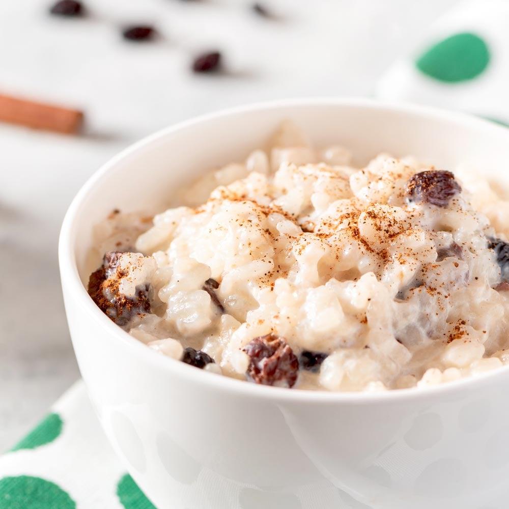 Cannelle Raisin Riz Pudding