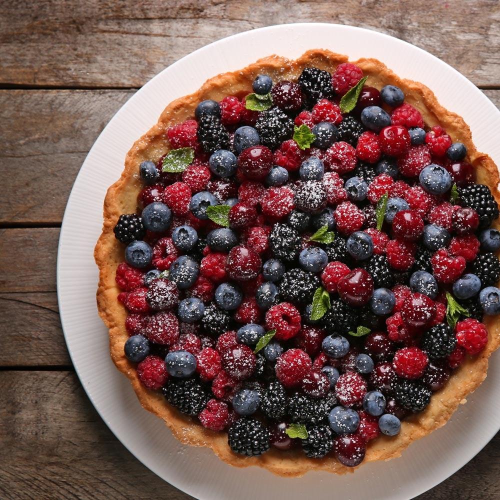 Tarte aux petits-fruits frais