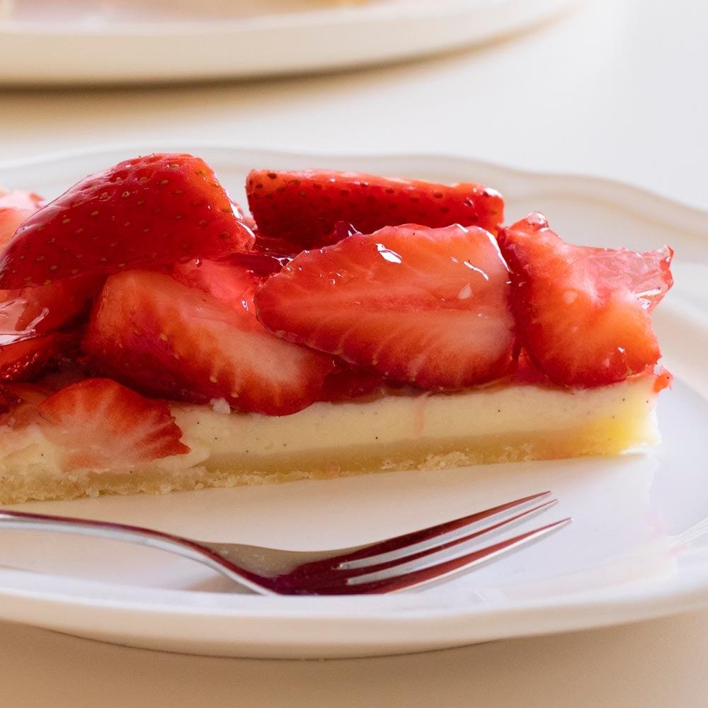 Tarte fraîche aux fraises