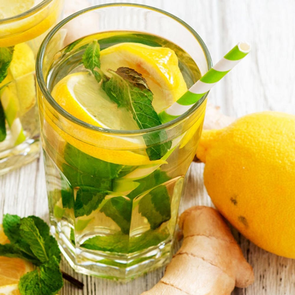 Thé vert au citron au gingembre
