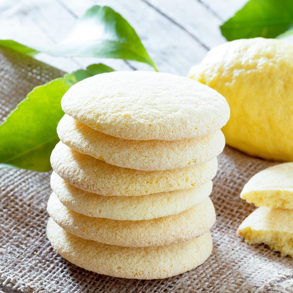 Biscuits à la semoule de maïs au citron italien