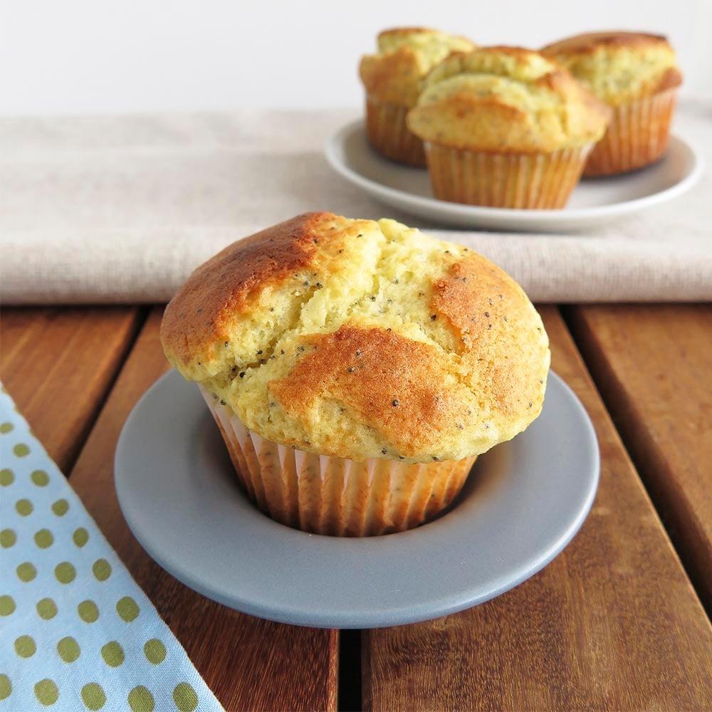 Muffins de graines de pavot au citron