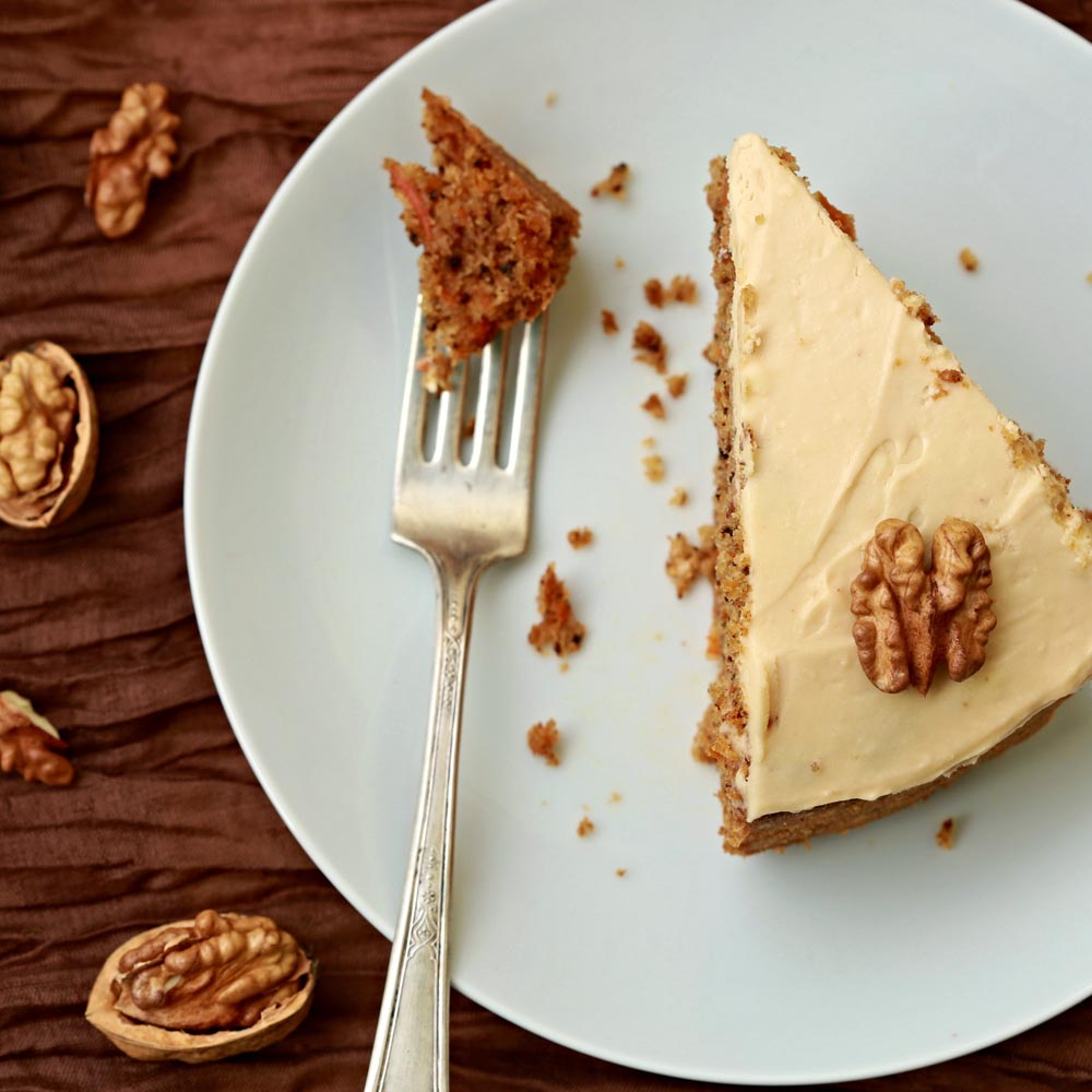 Gâteau à l'érable et aux noix