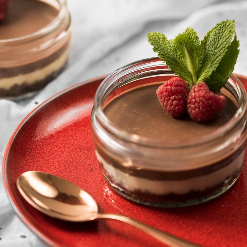 Mini cheesecakes en croûte de chocolat