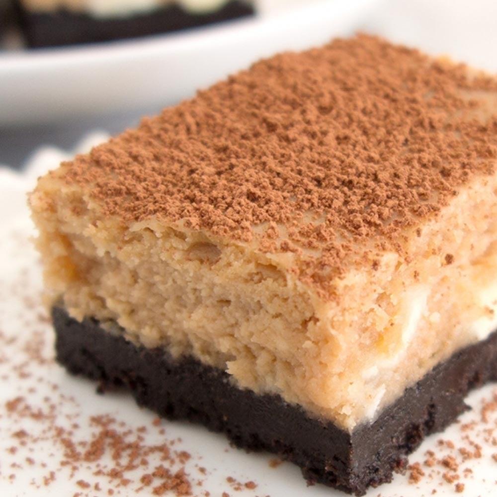 Barres de cheesecake moka