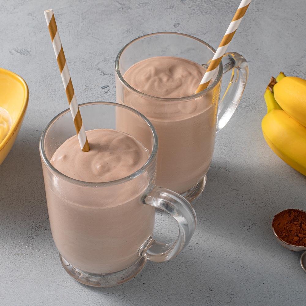 Smoothie au chocolat banane au beurre d'arachide