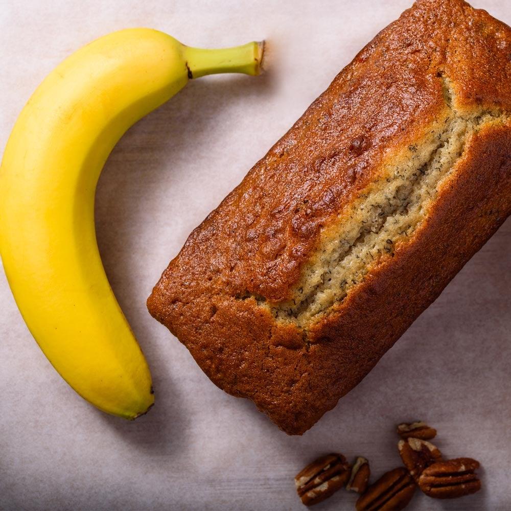 Pain à la banane aux noix de pécan