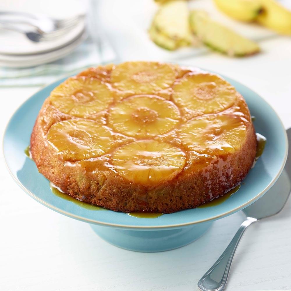 Gâteau à l'ananas à l'envers