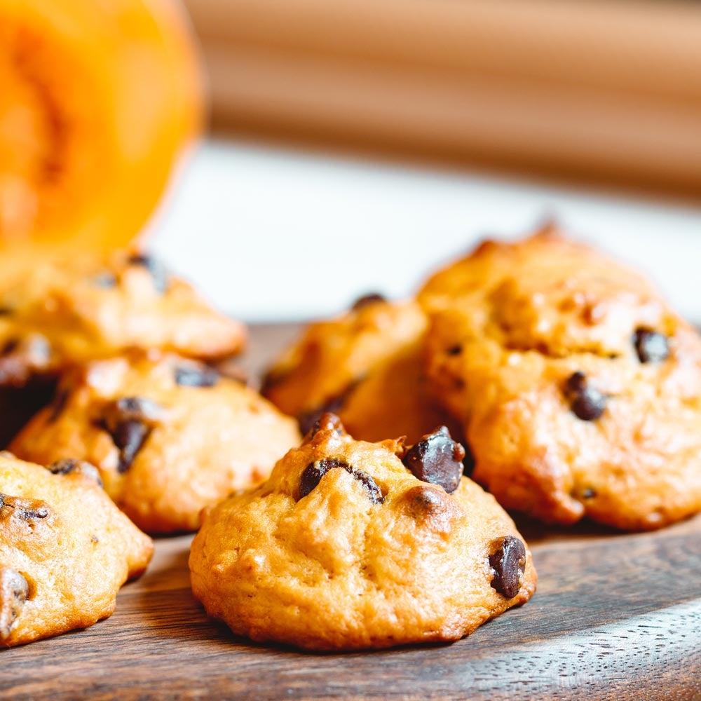 Biscuits aux pépites de chocolat et citrouille