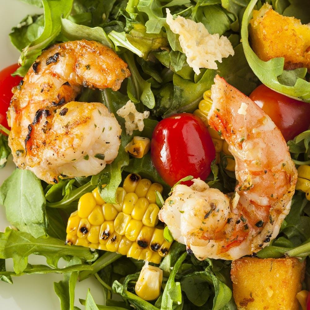 Salade de crevettes et de maïs