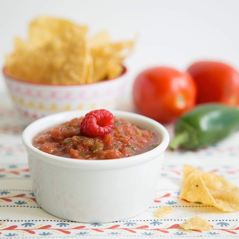 Salsa tomate-framboise