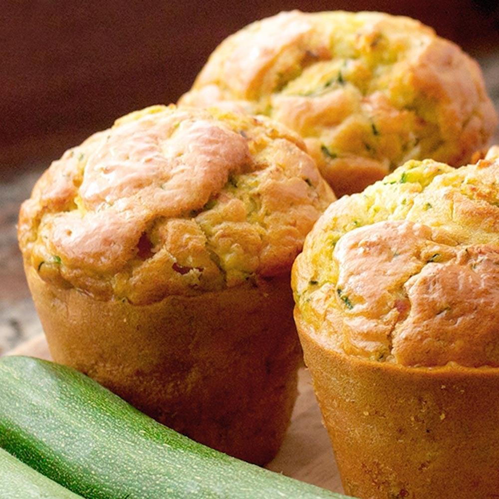 Muffins pain de courgettes