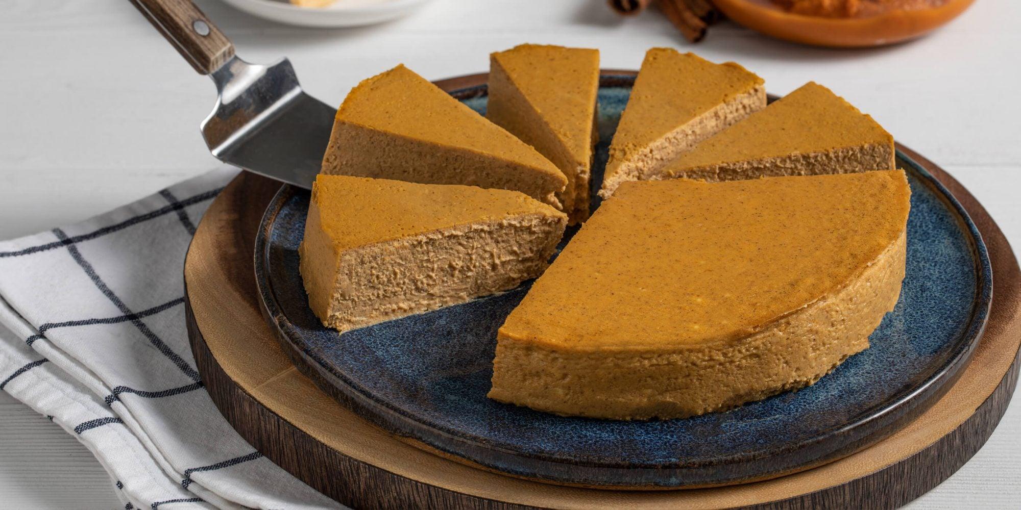 Pumpkin-Maple Crustless Cheesecake