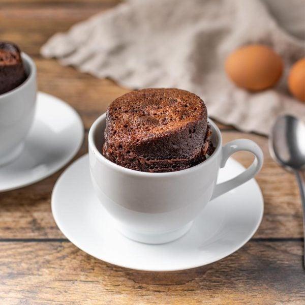 Gâteau à la tasse au chocolat keto
