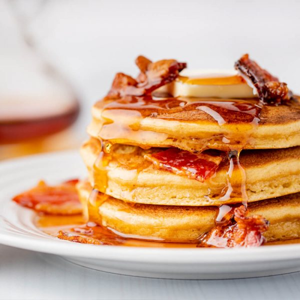 Keto Bacon-Bourbon Pancakes